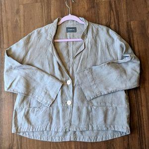 Oska Gray Linen Jacket Blazer Lagenlook